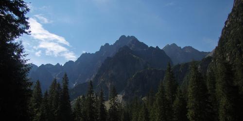 Dolina Kacza i Dolina Ciężka - z Polany pod Wysoką