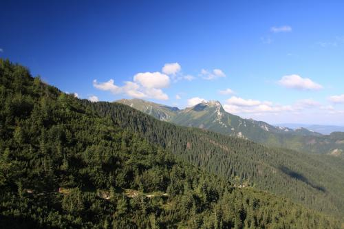 Giewont widok z Przełęczy Między Kopami