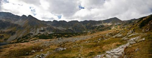 Liptowskie Mury, Kotelnica i szlak na Zawrat