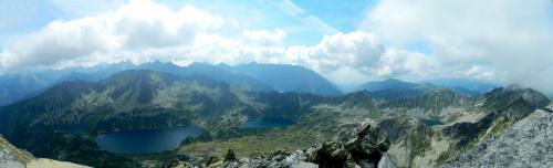 Panorama - Dolina 5 Stawów