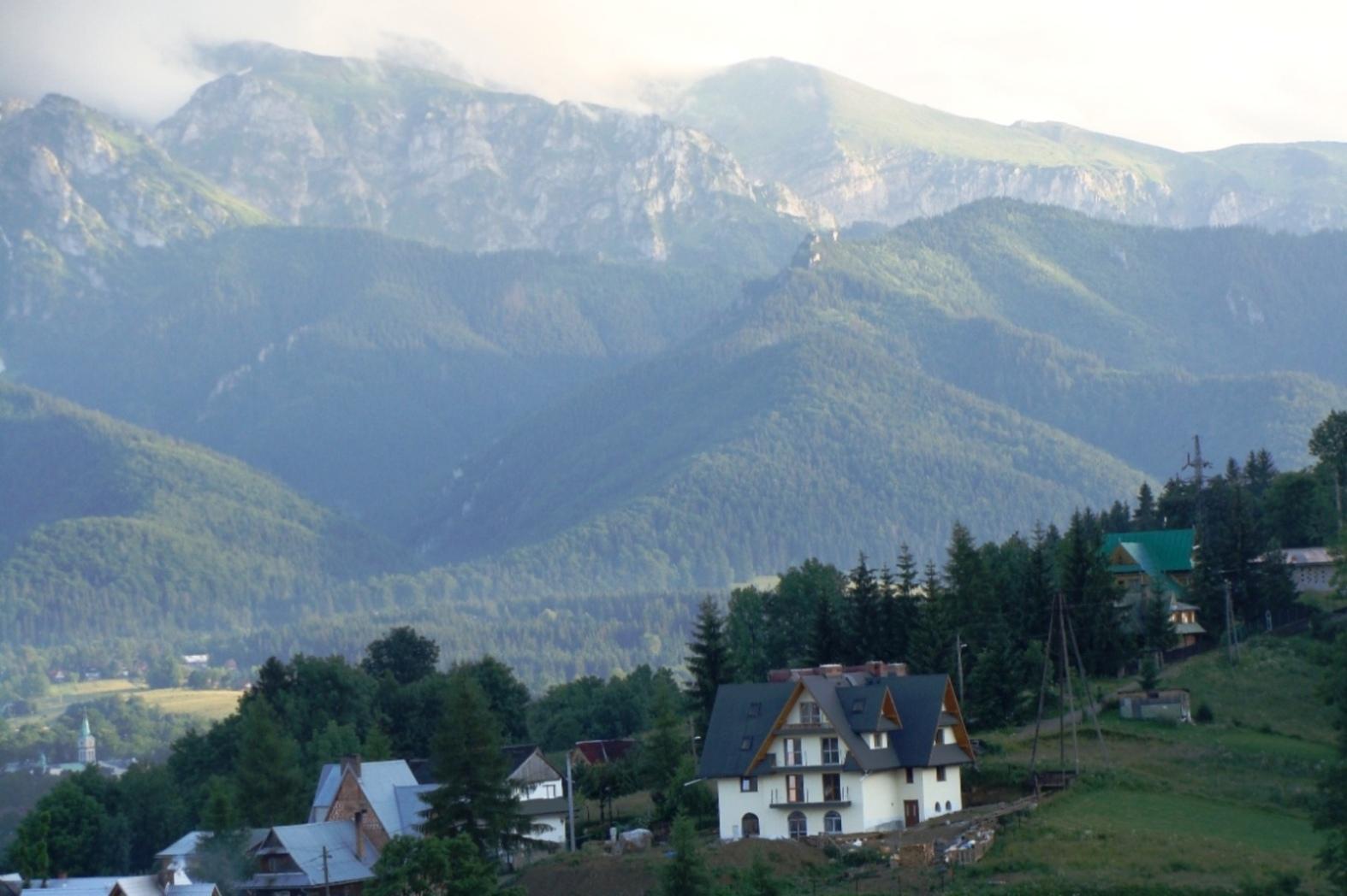 Panorama Czerwonych Wierchów z Zakopanego