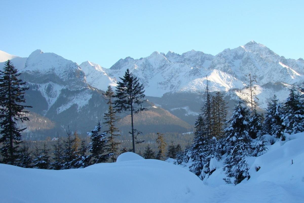 Panorama Słowackich Tatr Wysokich
