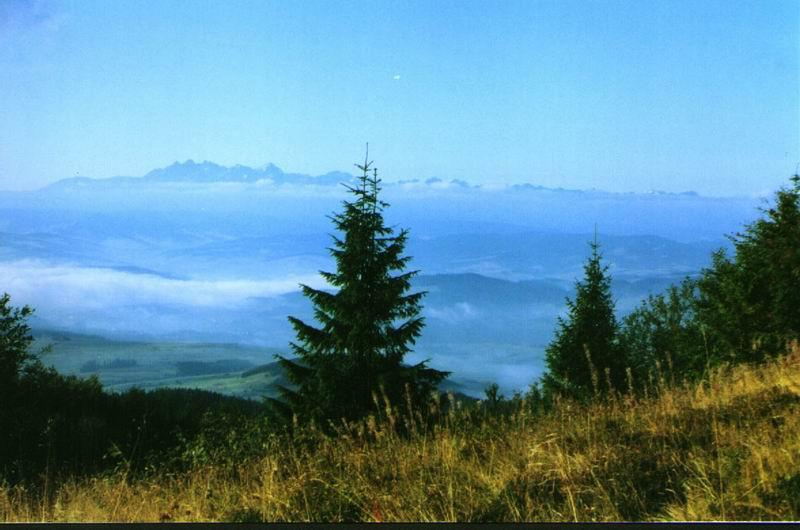 Panorama Tatr z Beskidów