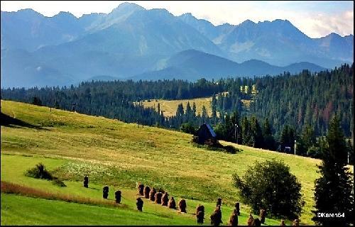 Panorama Tatr z Bukowiny Tatrzańskiej