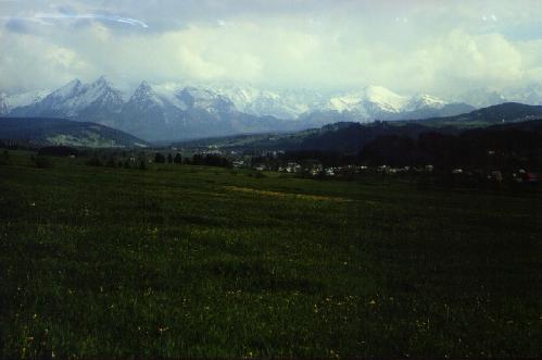 Panorama Tatr ze Spisza