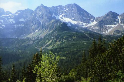 Panorama szczytów okalających Dolinę Gąsiennicową