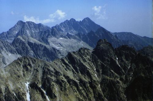 Panorama z Gerlacha na wschód