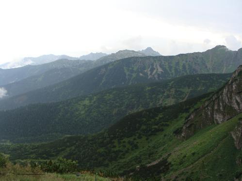 Panorama z Przełęczy Kondrackiej