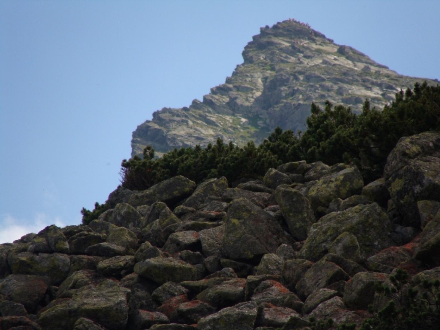 Rumowisko skalne pod Kościelcem.