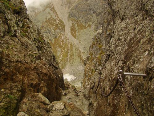 Siodło przełęczy - w dole Kozia dolinka