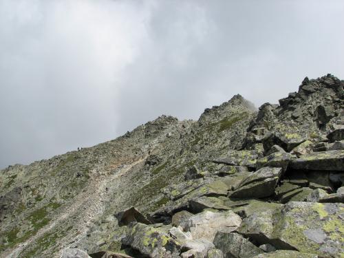 Tatry Słowackie-szlak na Rysy-już je widać