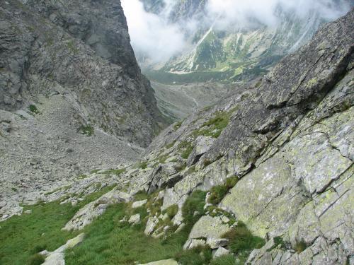 Tatry Słowackie - szlak na Rysy - widok z deski WC
