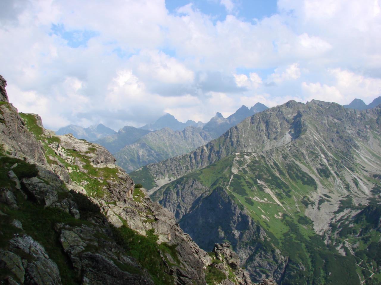 Tatry Wysokie - Widok z przełęczy Krzyżne