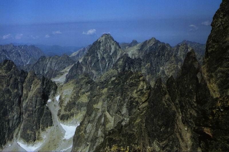 Tatry Wysokie z drogi na Gerlach
