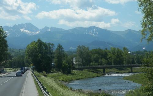 Tatry widziane z Zakopianki