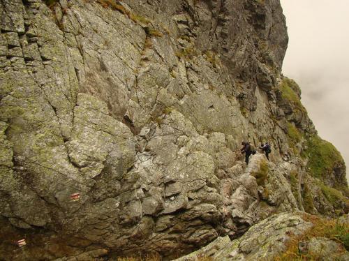 Trawers południowej ściany Kozich Czub