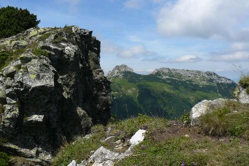 Widok na Giewont ze szlaku na Kasprowy Wierch
