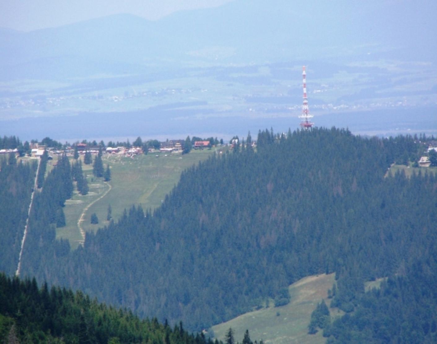 Widok na Gubałówkę z Przełęczy Między Kopami