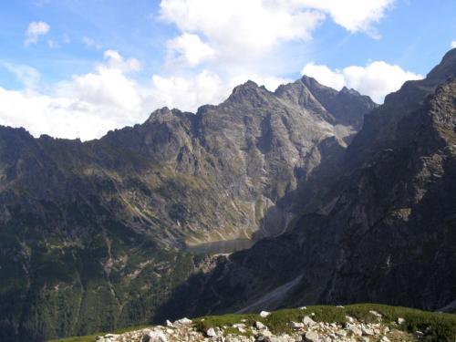 Widok na Rysy ze Szpiglasowej Przełęczy