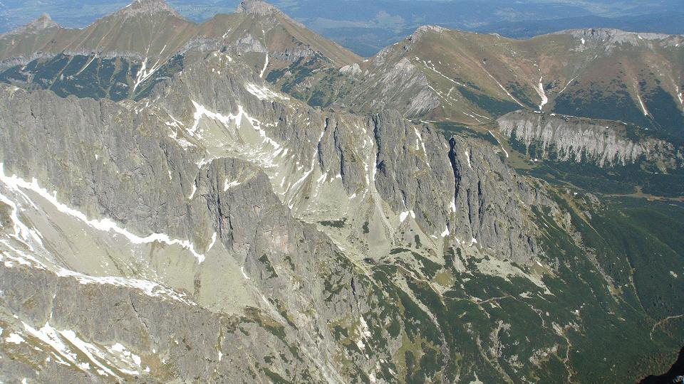 Widok na Tatry z Łomnicy