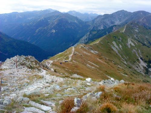 Widok na przełęcz pod Kopą Kondracką