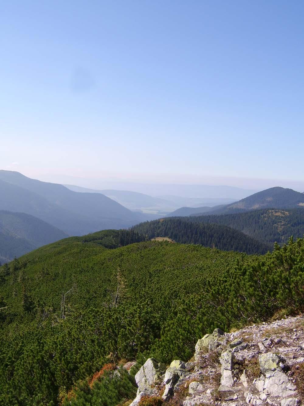 Widok z Grzesia na Słowację