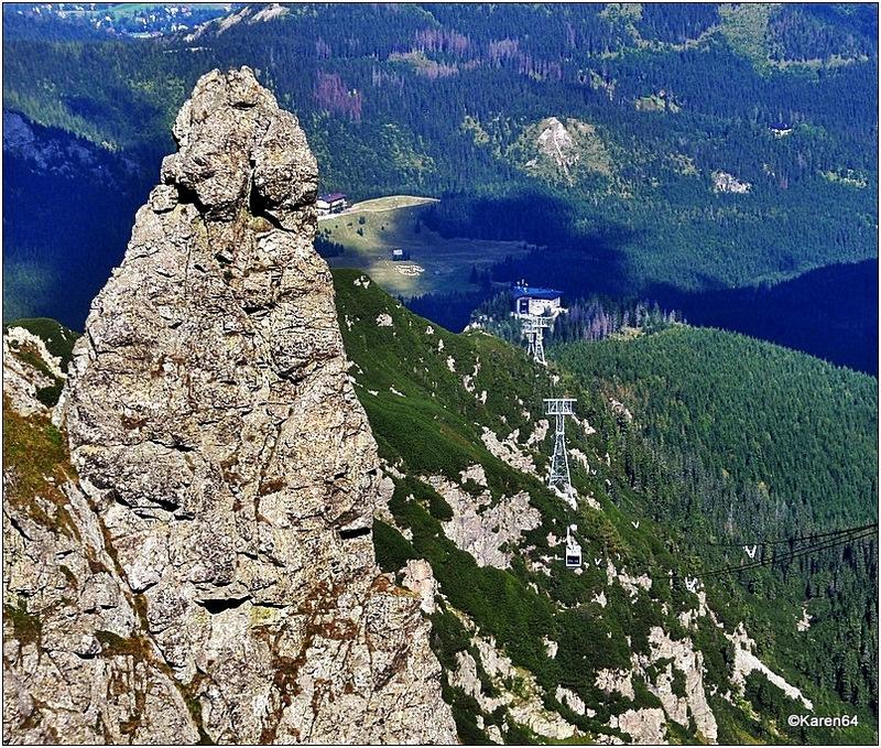 Widok z Kasprowego Wierchu - igła skalna zwana Palcem