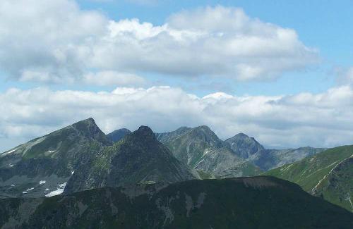Widok z Kończystego na Tatry Wysokie