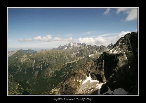 Widok z Przełęczy Waga na Tatry Wysokie