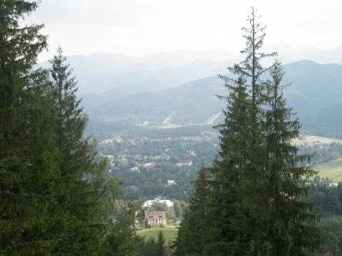 Widok z podejścia na Gubałówkę.