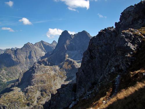 Widok z przełęczy Szpiglasowej.