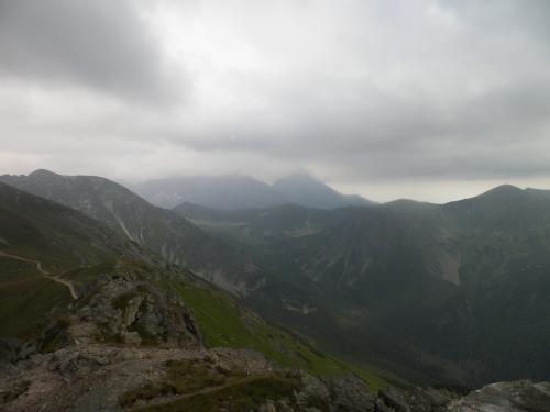 Widok ze szczytu Kasprowego