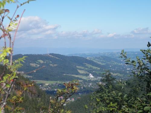 Widok ze szczytu Przysłop Miętusi na Zakopane