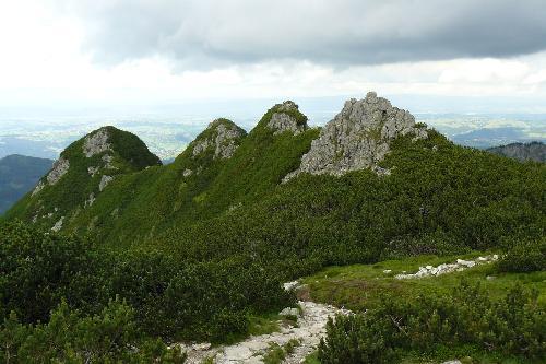 Widok ze szlaku na Kasprowy Wierch