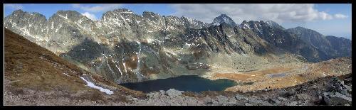 Wielki Staw Hińczowy z Koprowej Przełęczy