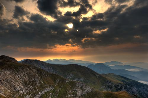 Zachód słońca - widok z Małołaczniaka