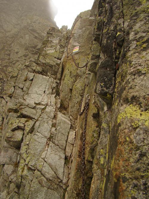 Zejście na stronę Dolinki Pustej